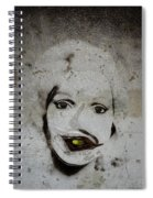 Spoiled Portrait In The Wall Spiral Notebook