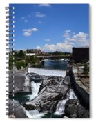 Spokane Falls And Riverfront Spiral Notebook