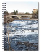 Spokane Falls In Winter Spiral Notebook