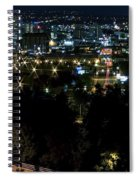 Spokane Washington Skyline At Night Spiral Notebook