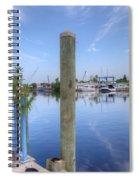 Sponge Boat Docks 2  Spiral Notebook