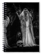 Spookie Ladies Vinette Black And White Spiral Notebook