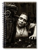 Zombie Lady Sepia Spiral Notebook