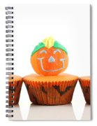 Spooks Cup Cakes On White Background Spiral Notebook