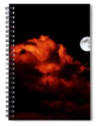 Spooky Clouds With Glowing Moon Spiral Notebook