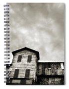 Spooky Grain Elevator Spiral Notebook