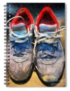 Sport Shoes Drawing Spiral Notebook