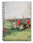 Sporting Scene, 19th Century Spiral Notebook