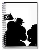 Sports Fans Silhouette Spiral Notebook