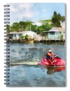 Sports - Man On Jet Ski Spiral Notebook