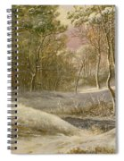 Sportsmen In A Winter Forest Spiral Notebook