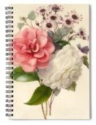 Spray Of Three Flowers Spiral Notebook