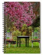 Spring Begins In Wonderland Spiral Notebook