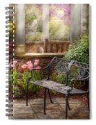 Spring - Bench - A Place To Retire  Spiral Notebook