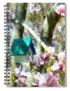 Spring - Birdhouse In Magnolia Spiral Notebook