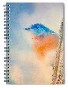 Spring Blues - Digital Watercolor Spiral Notebook