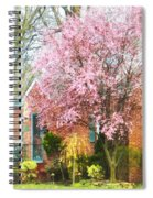 Spring - Cherry Tree By Brick House Spiral Notebook