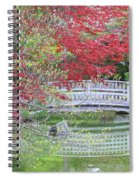 Spring Color Over Japanese Garden Bridge Spiral Notebook