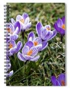 Spring Crocus With Scripture Spiral Notebook