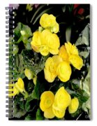 Spring Delight In Yellow Spiral Notebook