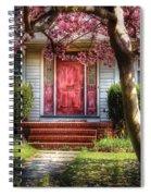 Spring - Door - Westfield Nj - Pink Spiral Notebook
