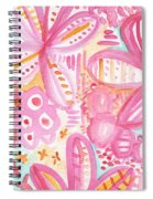 Spring Flowers- Watercolor Painting Spiral Notebook