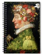 Spring, From A Series Depicting The Four Seasons Spiral Notebook