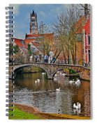 Spring In Bruges Spiral Notebook