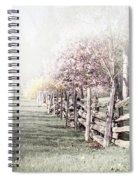 Spring Landscape With Fence Spiral Notebook