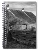 Spring Light - Black And White Spiral Notebook