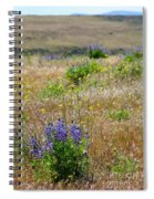 Spring Lupines And Cheatgrass Spiral Notebook