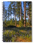 Spring Lupines In The Forest Spiral Notebook