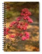 Spring Mignonette Flower Spiral Notebook