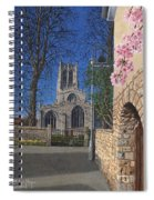 Spring Morning Brides Cottage Tickhill Yorkshire Spiral Notebook