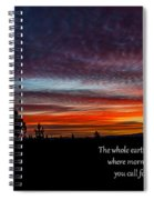 Spring Peaceful Morning Sunrise Bible Verse Photography Spiral Notebook
