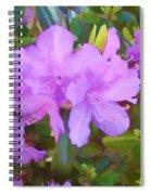 Spring Pink Azalea Spiral Notebook