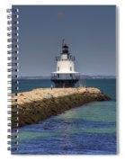 Spring Point Ledge Light Spiral Notebook