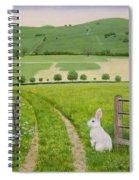 Spring Rabbit Spiral Notebook