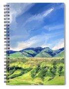 Spring Rains Near San Luis Obispo Spiral Notebook