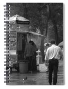 Spring Shower - Rainy Day In New York Spiral Notebook