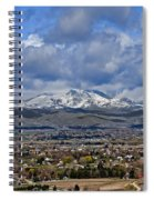 Spring Snow On Squaw Butte Spiral Notebook