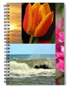 Spring Summer Collage Spiral Notebook