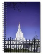 Spring Time At The Idaho Falls Temple Spiral Notebook