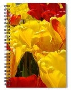 Spring Tulips Art Prints Yellow Red Tulip Flowers Spiral Notebook