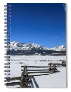 Spring View Of The Sawtooth Mountains Spiral Notebook