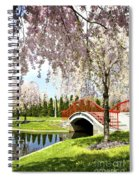 Spring Walk Around Lake Spiral Notebook