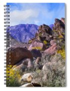 Spring Wildflowers At Anza Borrego Spiral Notebook