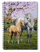 Spring's Gift - Mare And Foal Spiral Notebook