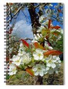 Springtime Pear Blossoms - Hello Spring Spiral Notebook