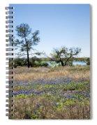 Springtime Texas Bluebonnets Naturalized Spiral Notebook